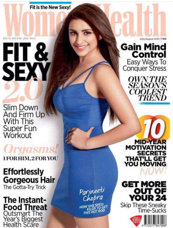 Parineeti Chopra ‏:- Healthy life, healthy body!! #FitnFab #womenshealth #newcover -twitter