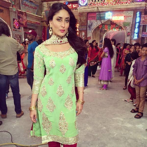 How beautiful does Kareena look in this mint green embroidered Manish Malhotra salwar kameez? #BajrangiBhaijaan. Twitter
