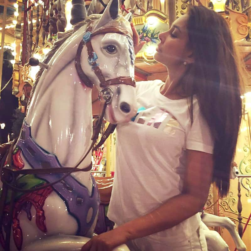 Lisa Ray ‏:- Oh yes I did... Don't worry, didn't have to bump a child off the Merry Go Round to claim my filly... #Avignon  -twitter