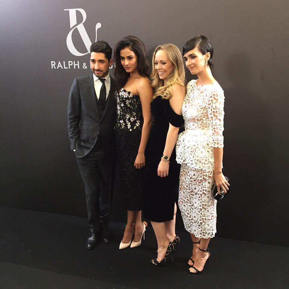 Looking great @sonalchauhan7 at Paris haute couture week @ralphandrusso front row -twitter