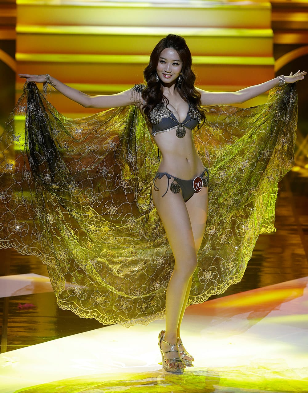 Miss Korea Lee Min-ji, 24-year-old college student, poses during the 2015 Miss Korea Contest in Seoul, South Korea. Lee will represent South Korea for this year's Miss Universe beauty pageant.