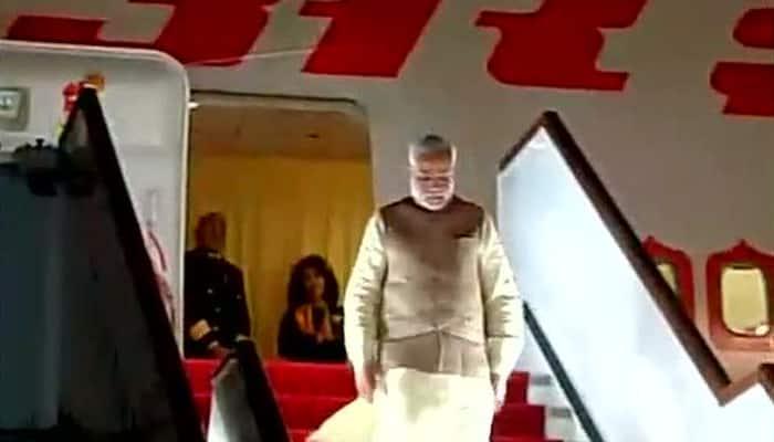 PM Narendra Modi arrives in Tajikistan