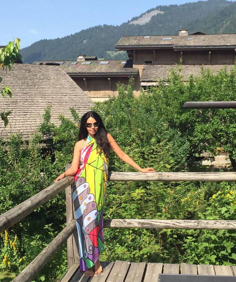 Mallika Sherawat :- Loving the yoga retreat in the mountains:)  -twitter