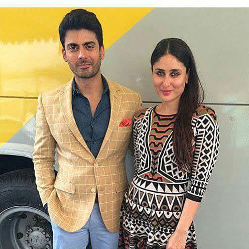 Kareena Kapoor Khan and Fawad Khan posing for a pic. -twitter