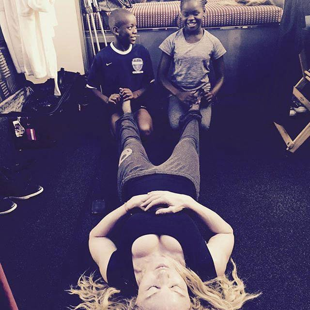 Madonna :- #motherlove..............how I'm gonna get through the day. Mercy and David give the best foot rubs!!! ❤#rebelhearts -twitter
