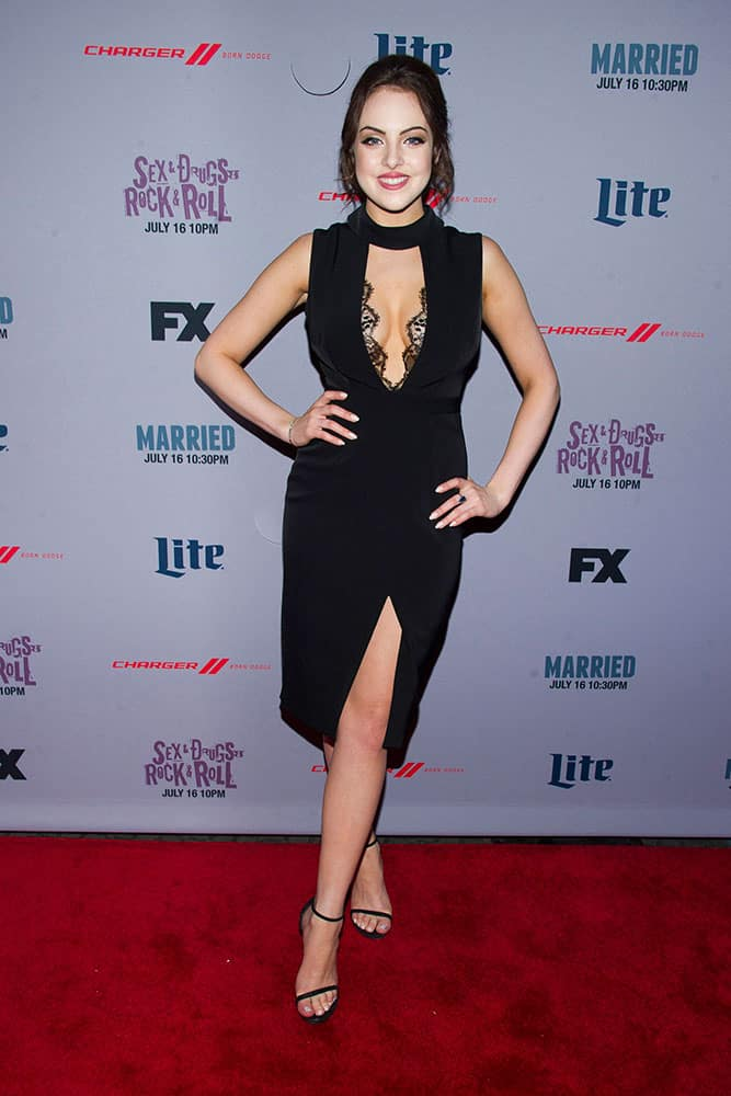 Elizabeth Gillies attends the premiere screenings of FX's