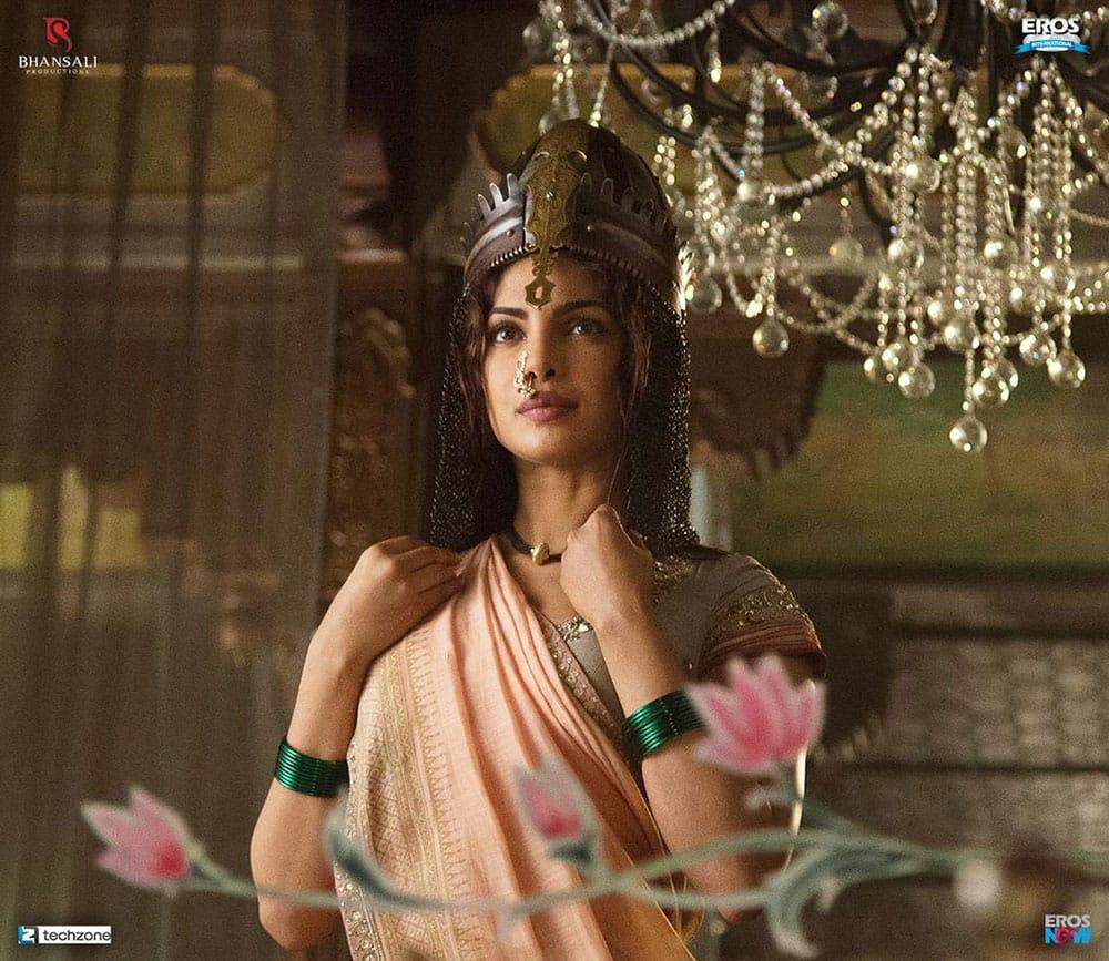 Eros Now :- And here's the first look of @priyankachopra as Kashibai in the epic, Bajirao Mastani! -twitter