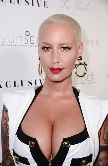 Amber Rose seen at the 10th Annual All-Star Celebrity Kickoff Party at Le Jardin in Los Angeles.