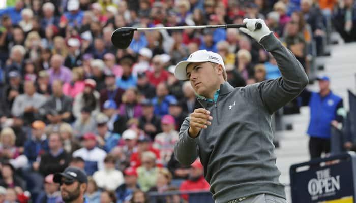 British Open: Jordan Spieth into joint lead with Dustin Johnson