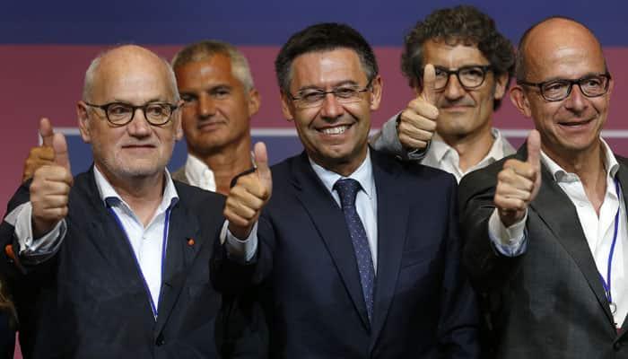 Barcelona president Josep Maria Bartomeu must resolve sponsorship deal