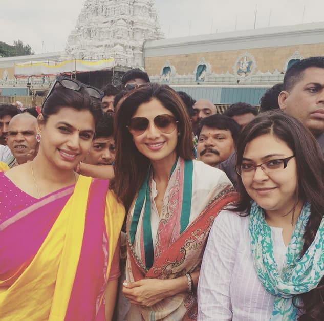 In front of the tirupati temple - Instagram@officialshilpashetty