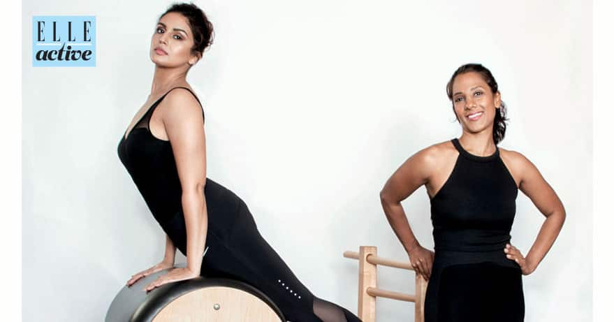 #ELLEActive @HumaSQureshi & trainer @RadhikaKarle on how to lose weight – not your curves. -twitter