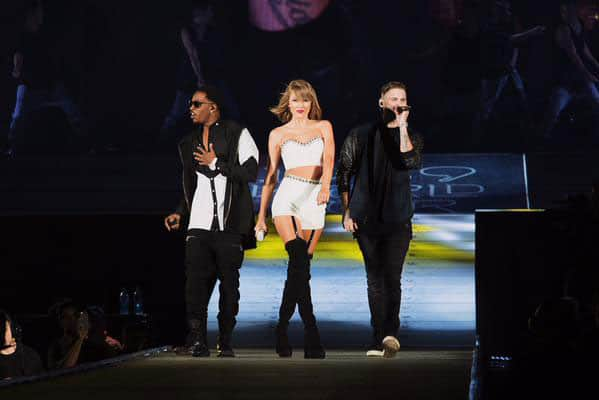 Taylor Swift :- TONIGHT WAS EPIC! @WeAreMKTO showed up and 60,000 people sang every word to 'Classic' with us! They're insane live!! -twitter