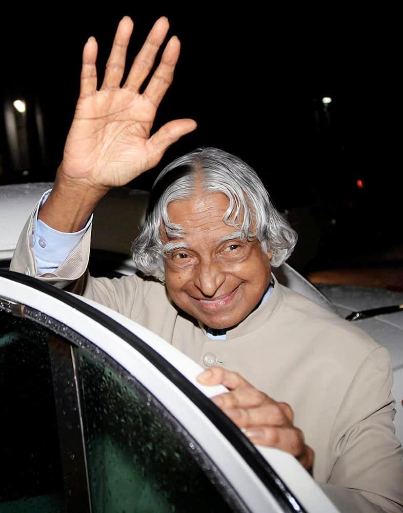 File photo of former president APJ Abdul Kalam in Mumbai in June 2010.