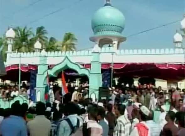 APJ Abdul Kalam's body being taken to burial ground in Rameswaram. -twitter@ANI_news