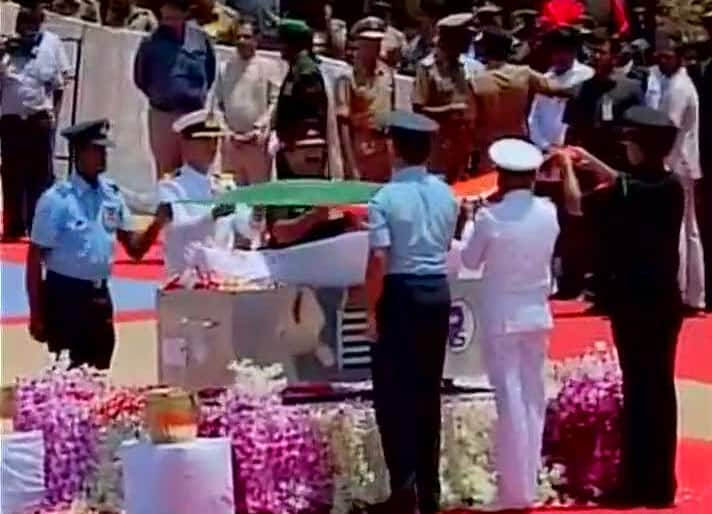 Burial of Former President APJ Abdul Kalam takes place -twitter@ANI_news
