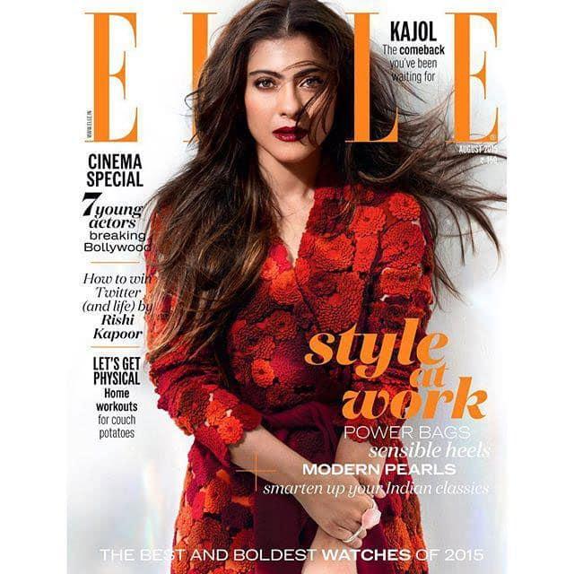#ELLEAugust stars Bollywood's sweetheart, the very lovely #Kajol in @namratajoshipura and …  -twitter@ELLEINDIA