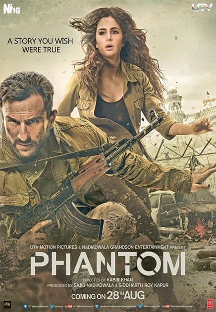 Presenting a brand new action-packed poster of #Phantom. A story you wish were true! Twitter@utvfilms