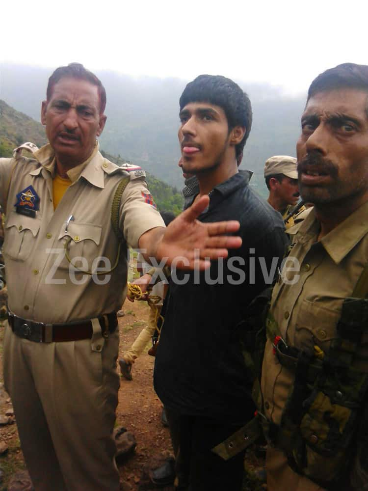 Picture of one of the purported terrorists nabbed by security forces in Udhampur (J&K).