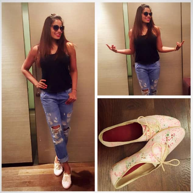Easy breezy ! Love Luella Brogue from my @thetrunklabel collection! - Instagram@bipashabasu