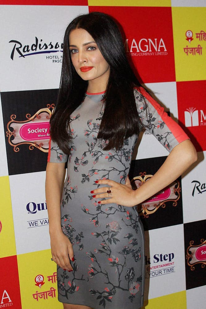 Actress Celina Jaitley at an event in New Delhi.