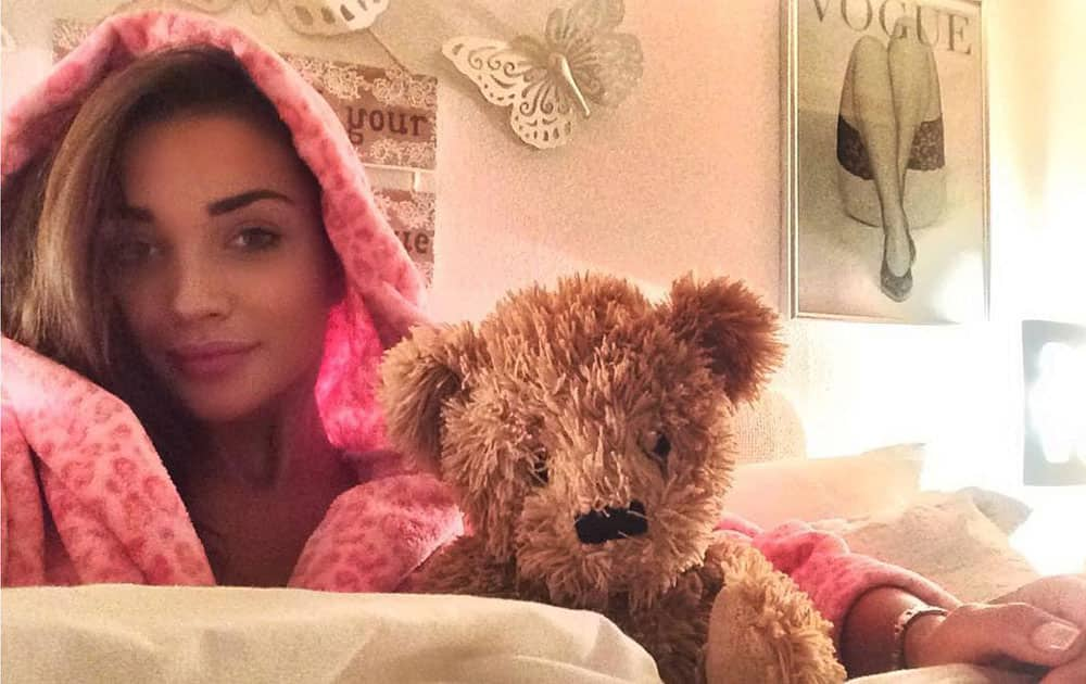 Amy Jackson :- In bed with the best cuddler on the planet Home is where the heart is -instagram