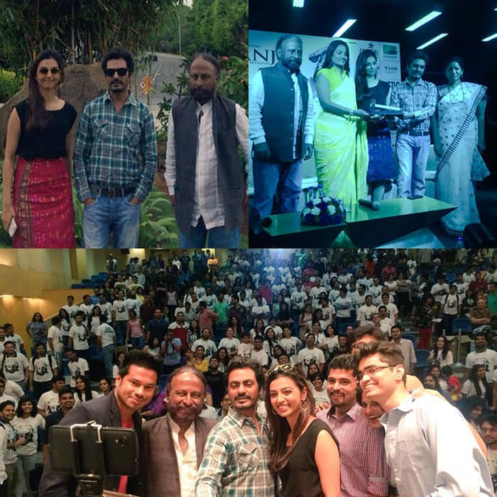 Nawazuddin Siddiqui :- Tq all fr cuming n being a part of us loved every bit of d time spent here #hyderabad -twitter