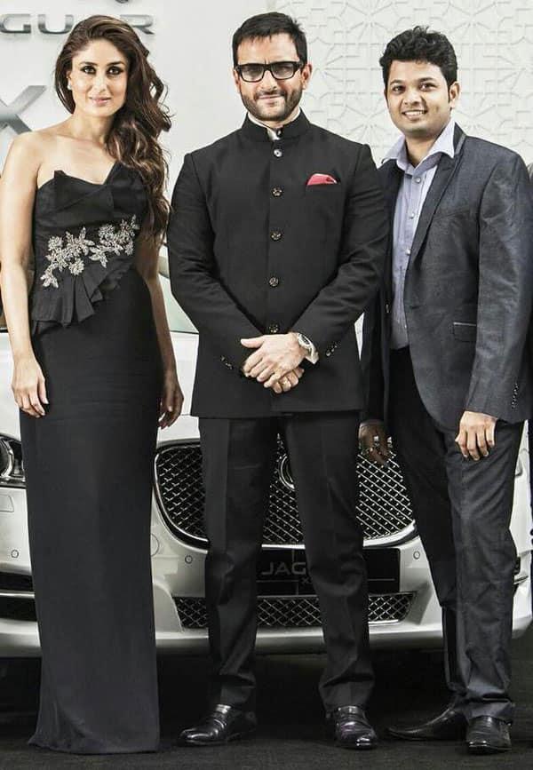 A new picture of Kareena and Saif at the launch of Jaguar -twitter@KareenaK_FC