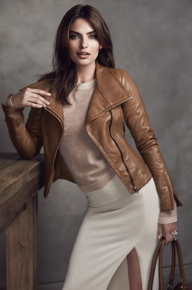 This season starts with the perfect leather jacket. Our bestseller, Bree in a new colour. Model: @luvalyssamiller. Twitter