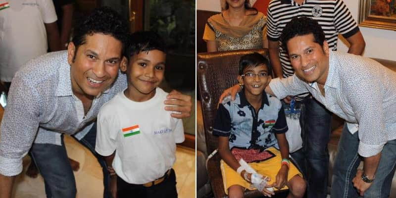 They have great hope and positivity. Enjoyed the evening chatting and playing cricket (2/3) Twitter@sachin_rt