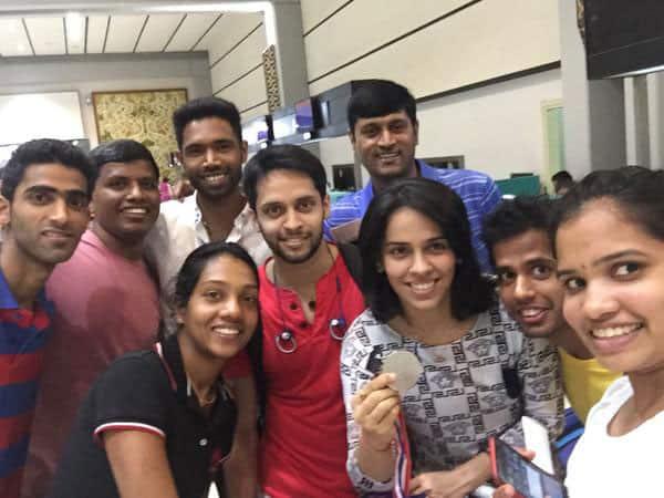 Saina Nehwal :- Pics with medal -twitter