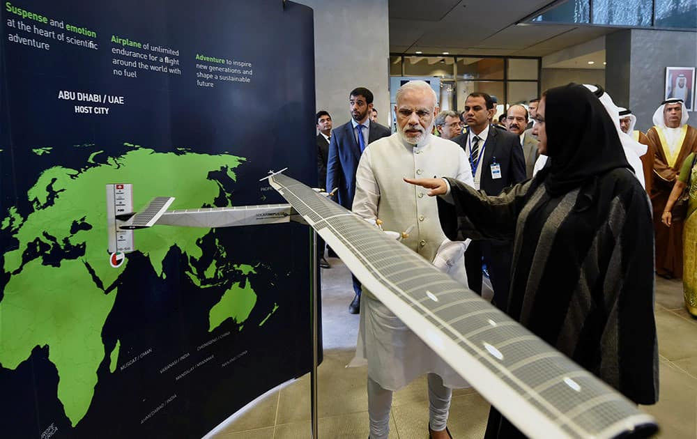 Prime Minister Narendra on his visit to Masdar city.