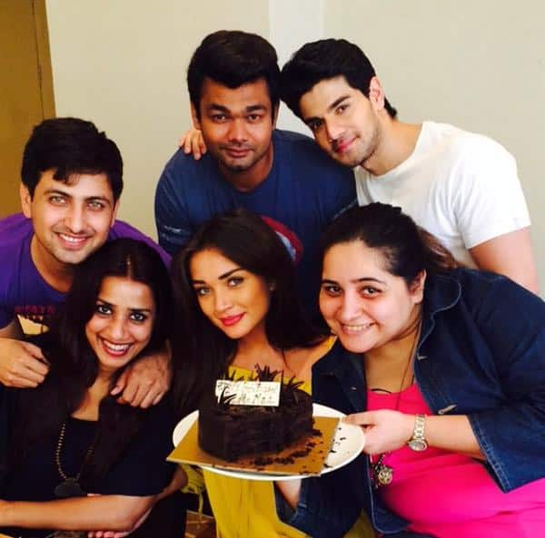 Being Piggys because we can Celebrating @aasifahmed birthday with a LOT of cake today. Twitter@iamAmyJackson