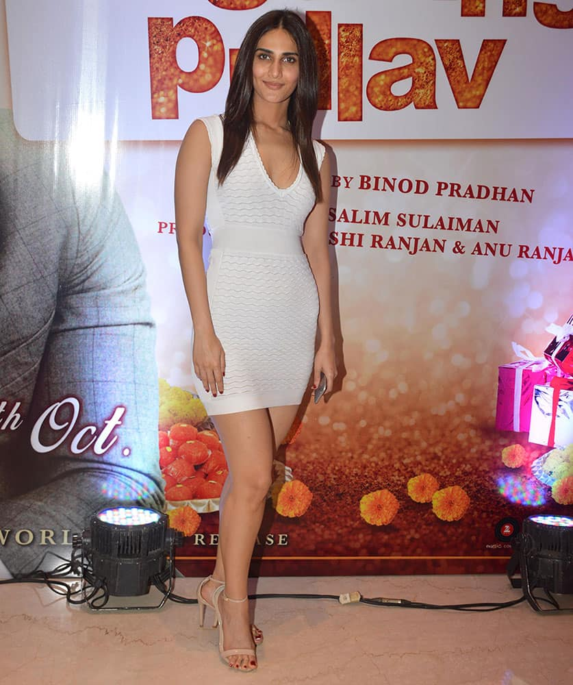 Vani Kapoor during the trailer launch of movie 'Wedding Pullav' at Andheri in Mumbai. -dna