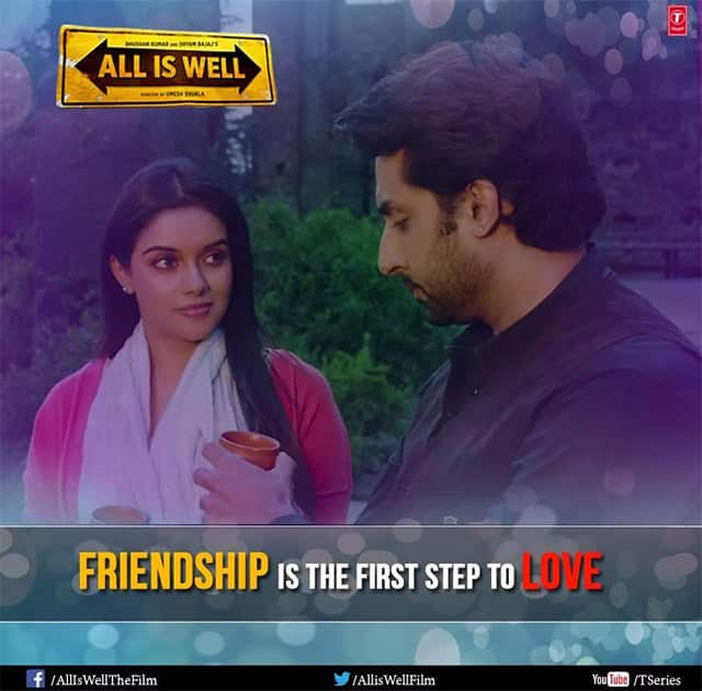 Take that first step and make this Friendship's Day a memorable one! #HappyFriendshipsDay #AllIsWell  Twitter@AllisWellFilm