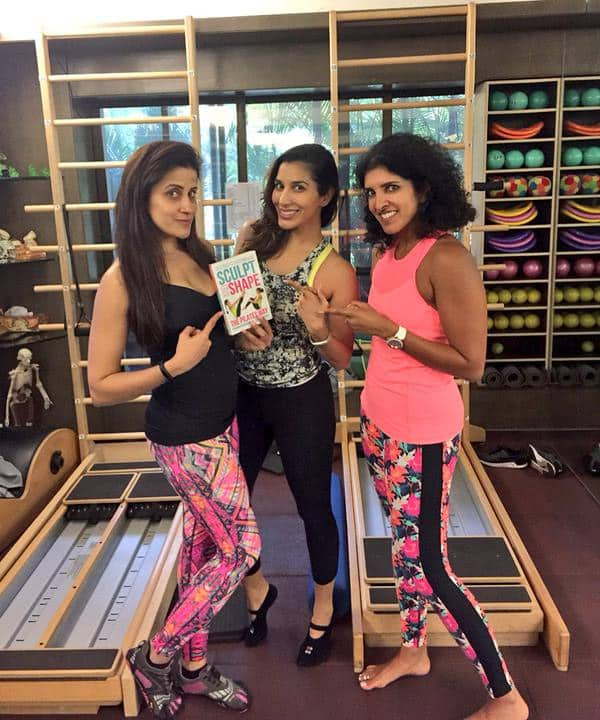 Awesm Pilates session! Tku @ZeenaDhalla & @YasminBodyImage  #sculptandshape is FAB! Buy here: http://bit.ly/SculptAndShape_  - Twitter@Sophie_Choudry