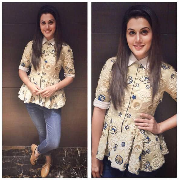 Saumya and Bhavini Modi for Forever 21 event in Forum Mall Hyderabad! Styled by @devs213 - Instagram@taapsee