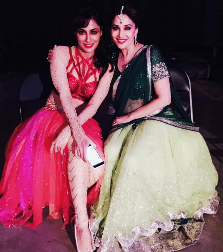 Chitrangda Singh :- My absolute fan girl moment .. Being w @MadhuriDixit on the shows !!! The best thing on screen ..!!