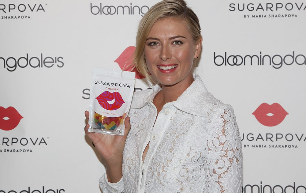 Professional tennis player Maria Sharapova celebrates the new