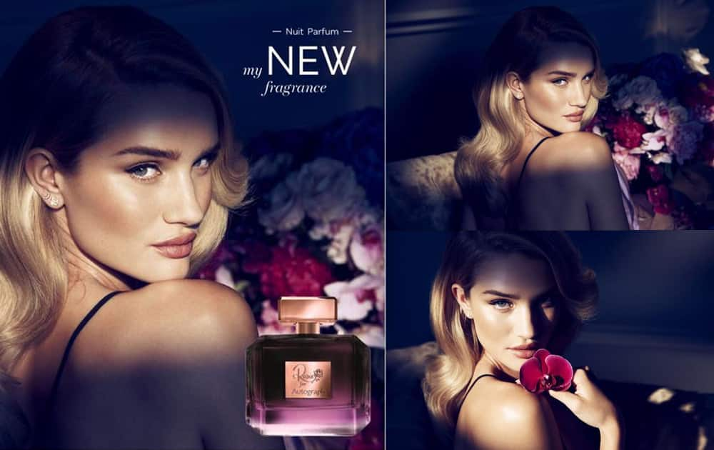 Happy to announce the launch of my second fragrance #RosieForAutograph @marksandspencer on sale from Sept 1st...- Twitter@RosieHW