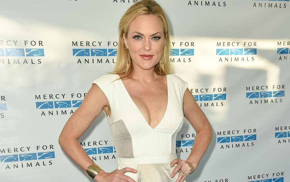 Elaine Hendrix arrives at Mercy For Animals' Hidden Heroes Gala held at Unici Casa in Culver City, Calif.