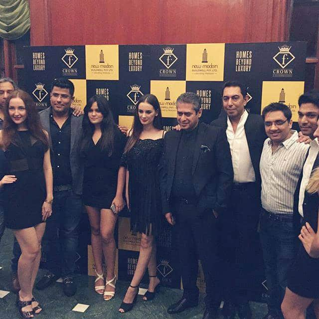 Evelyn Sharma :- With the lovely team of #fashiontv to launch #fcrown in #lucknow ❤️ thank you #ftv for a wonderful time! And... -fb