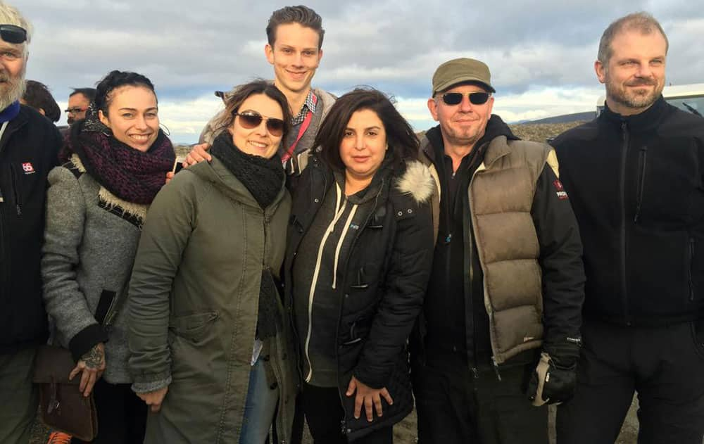 Dilwale in Iceland -twitter@TheFarahKhan