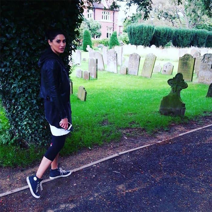 Nargis :-  Dying to walk through that graveyard!!! -instagram