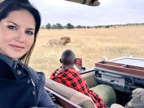 Just Another day on Masai Mara! Insanity!!! Last game drive today. Sad to leave! - Twitter@SunnyLeone