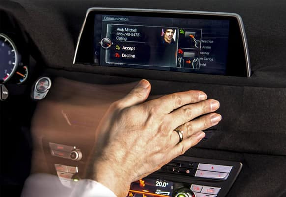 The car for the first time, includes a touchscreen that also features gesture control for taking charge of the various infotainment features.