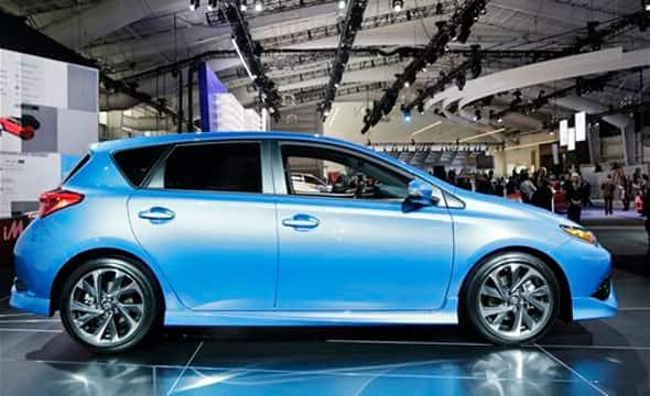 The 2016 Toyota Scion iM is on display at the New York International Auto Show, Wednesday, April 1, 2015.