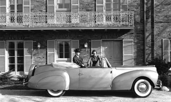 This undated photo provided by the Ford Motor Co. shows the 1940 Lincoln-Zephyr Continental Cabriolet.