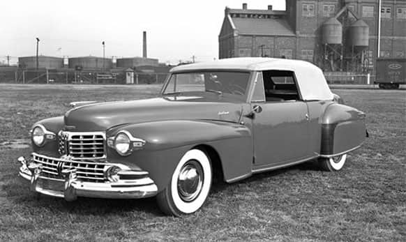 This undated photo provided by the Ford Motor Co. shows the 1948 Lincoln Continental Cabriolet V12.