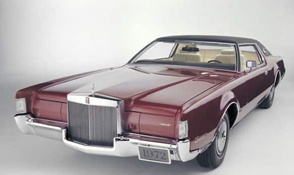 This undated photo provided by the Ford Motor Co. shows the 1972 Lincoln Continental Mark IV.
